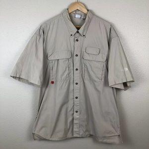 The North Face Tan Khaki Vented Button Down Shirt